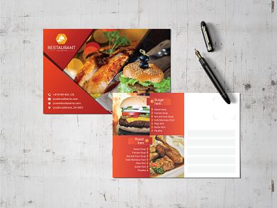 Fast Food Postcard poster print ready fast food postcard fast food postcard creative postcard chinese food restaurant postcard postcard design