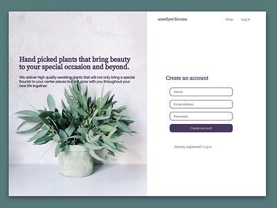UI Challenge - Sign up website web ui design branding