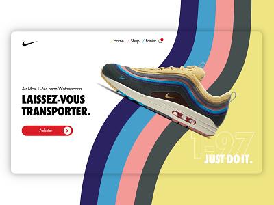 Nike Air Max Wotherspoon Landing Concept sneaker art sneakers 70s wave desktop landing design nikebrand air nike concept nike shoes landingpage webdesign nike air max airmax nike air whotherspoon nike