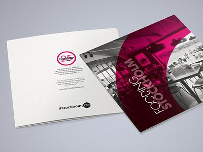Stockholmize Magazine purple pink design pink leaflet stockholm print design fooding mapping map indesign composition edition book magazine print