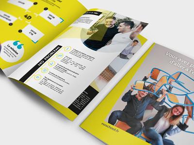 Noschool Print Mag yellow design black design blackandyellow print school business school indesign edition composition print design leaflet magazine book