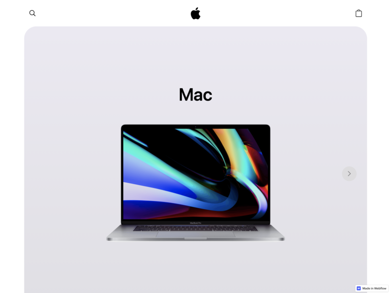 Apple Homepage Concept