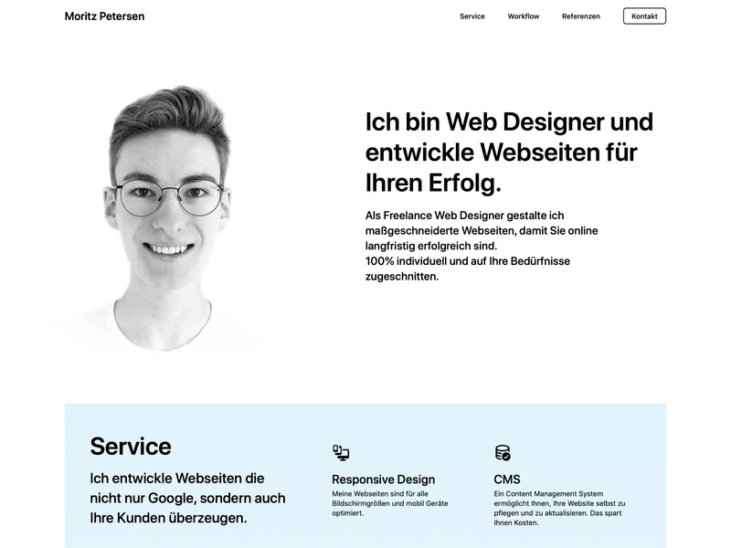 Personal Freelance Webdesign Website ux ui landingpage webflow freelancer portfolio website webdesign
