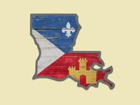 Acadian Flag State Of Louisiana