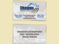 Baker Demo Business Cards