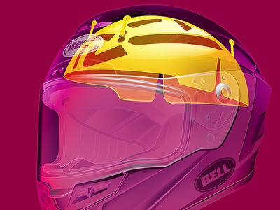 Bell Star MIPS cycle world cutaway motorcycle illustration technical illustration