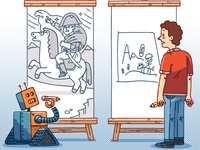 The Robot Can Draw Better Than You