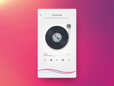 Music Player audio ui ux app music player android