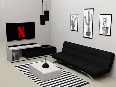 Terracota Sala design c4d 3d departament house minimalist sublimine station residencial background tv sala tv arquitecture modern white black sala