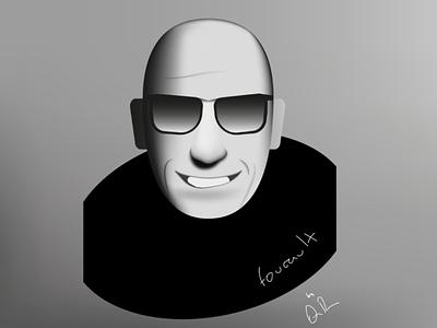 Foucault drawing university master influence public person design background philosophy philosopher white black