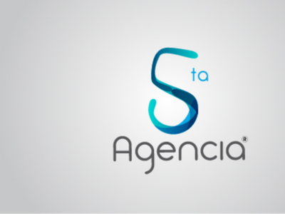 5ta Agencia house design gray number 5 draw dibujo logo blue agency