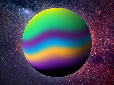 Enigma Planet purple illustration stars draw universe background color degrade planet