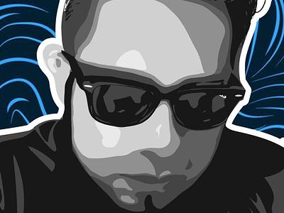 Portrait personal draw black color boceto background design dibujo illustration