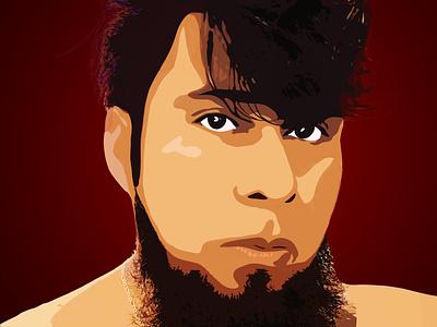 Personal portrait dibujo color background illustration boceto design draw