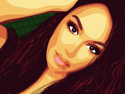 Pretty lady illustration black draw color boceto dibujo background design