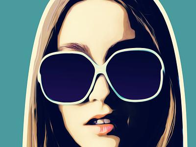 My glasses illustration black draw boceto dibujo color background design