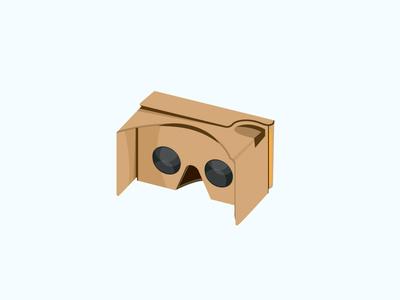 Free Google Cardboard Vector Design free freebie graphics virtual reality 3d cardboard vr