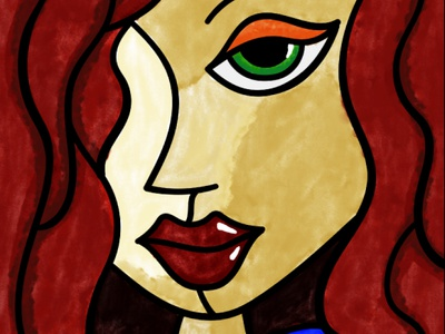 Pablo Picasso Inspired Artwork gig fiverr lady girl watercolor artwork picasso