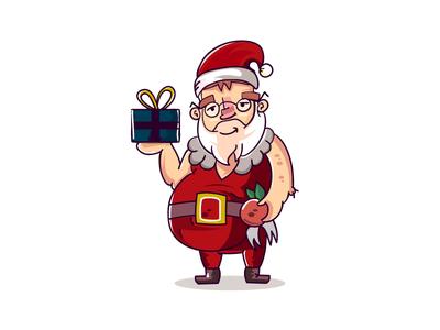 Lazy Santa vector freebies free christmas santa claus
