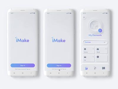 iMake - Integration app animation concept art concept design typogaphy logo branding copywriting case study photoshop illustrator xd ux ui design app art concept