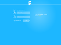 New Login page for my upcoming project