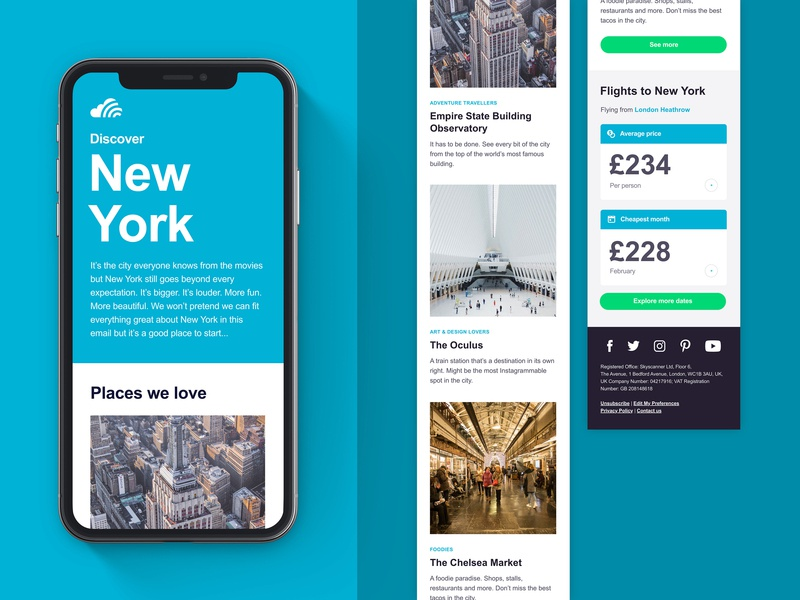 City Guides & onboarding skyscanner skyscanner design email email design email marketing designer hiring onboarding city guide