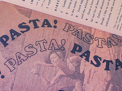 Cookbook Detail risoprint risograph typography pastels illustration design