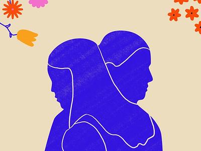 Together illustration design