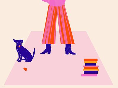 Dog illustration design