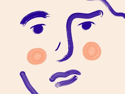 Face pastels design illustration