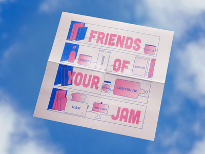 Jammy Jam Riso Print print branding package design minneapolis risograph typography pastels illustration design