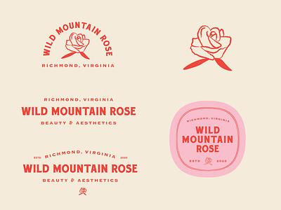 Logo Marks for Wild Mountain Rose virginia richmond logo branding typography pastels illustration design
