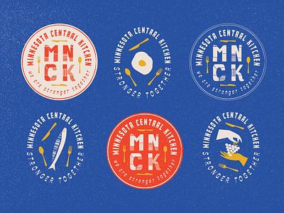 Badges for Minnesota Central Kitchen minnesota badges logo minneapolis branding typography illustration design