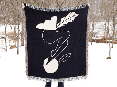 Female Form Blanket minimalist abstract female blanket textiles minneapolis design illustration