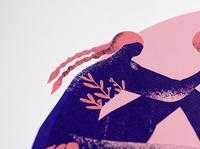Detail of screen print