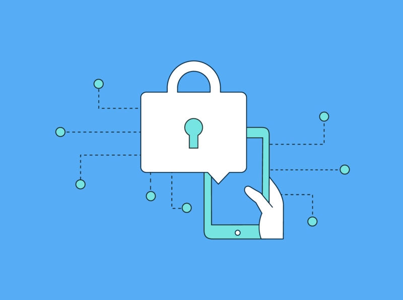 Social Media Security security social-media flat illustration vector design