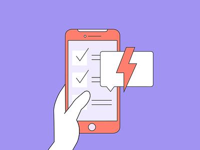 Social Media Crisis Management crisis social-media vector illustration flat design