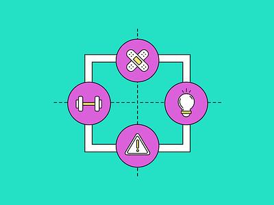 SWOT Analysis career illustration flat vector design