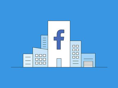 Facebook Business Manager business facebook social-media flat vector illustration design