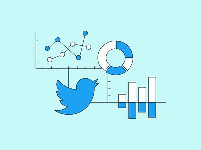 Why Brands Need a Twitter Dashboard analytics dashboard twitter vector illustration flat design
