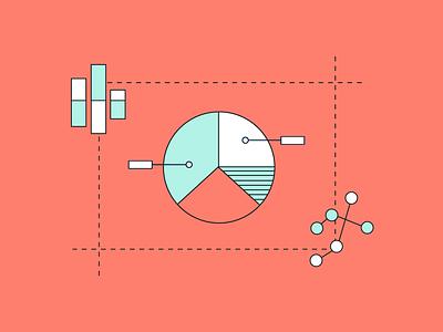 Data Visualization data visualization analytics vector flat illustration