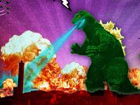 Godzilla want beer!