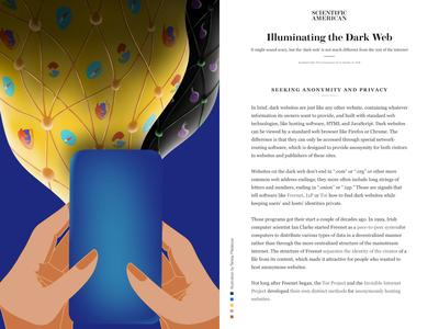 Illuminating the Dark Web -- Light vs Dark Web technology scientific illustration web design digital dark internet web light art color procreate background illustration