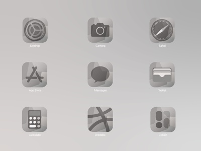 iOS14 Icon Pack - Grey Scale monochrome iconpack ios ios app logo design ux vector illustration background ui greys greyscale ios14 icon design icons icon set