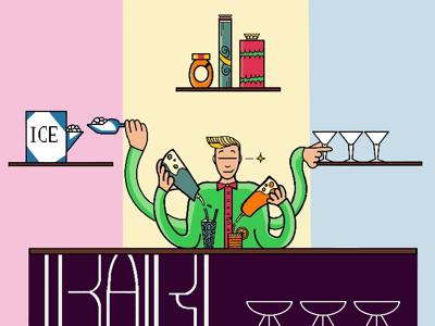 Bartender high skills