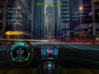 Holographic Car UI