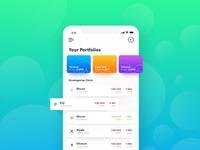 Crypto app UI