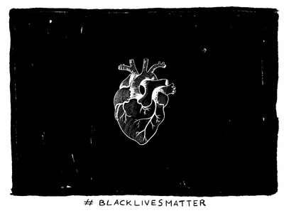 BLACKLIVESMATTER dark digital designstuff art direction doodle poster protest usa illustration blackouttuesday black blacklivesmatter
