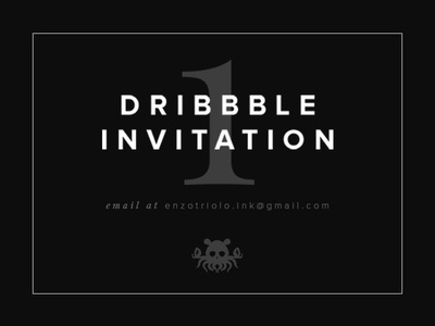 ONE Dribbble invitation left portfolio left one ticket invitation dribbble