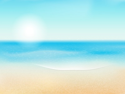 Vector Summer Background illustrator tutorial summer background ocean sea sun sand beach waves